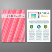 Template for flyer or booklet on online shopping theme