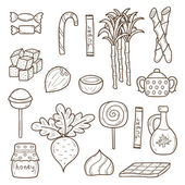 Objects on sugar type theme