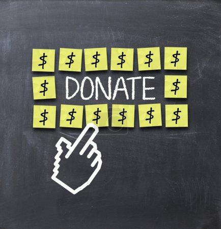 Photo pour Concept de don sur tableau noir - image libre de droit