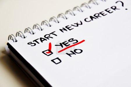 Start a new career