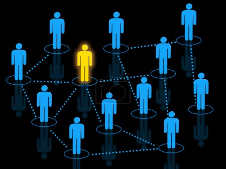 Team leader managing workforce concept