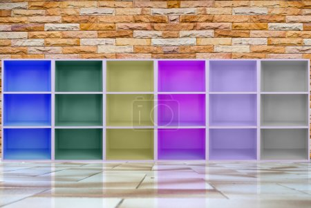 Photo for Colorful cabinets . - Royalty Free Image