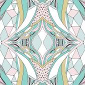 Tradiční dekorativní paisley šátek. Ručně kreslenou pozadí s uměleckou vzorem. Pastelové barvy
