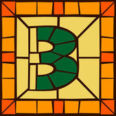 3 - Mosaic numbers stained glass window
