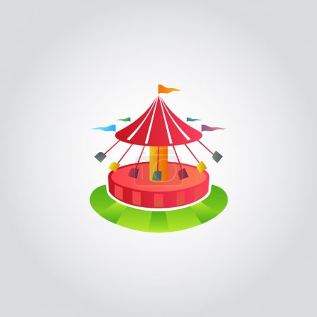 Illustration for Vintage merry-go-round  carousel icon, fair symbol, vector illustration - Royalty Free Image