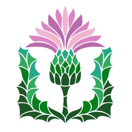 thistle flower symbol