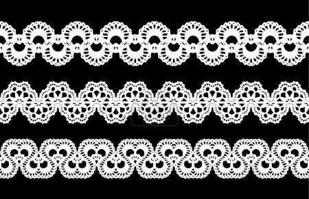 Lace ornament borders, elements set