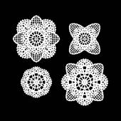 Lace round ornaments set