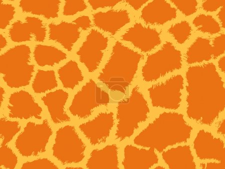 Illustration for Giraffe skin seamless pattern, animal background, tribal ornament, vector - Royalty Free Image