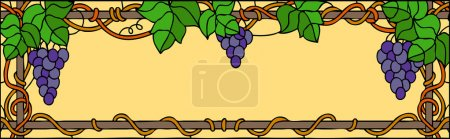 Summer grape with leaves background