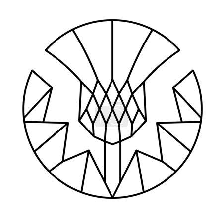 Thistle - floral emblem of Scotland