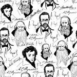Literature authors pattern,vector illustration...