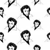 alexander pushkin seamless pattern