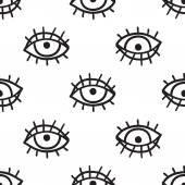 Hand drawn eyes backgroundvector illustration