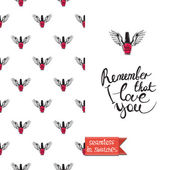 Vector fashion sketch Hand drawn graphic flying enamel with angel wings Contrasty glamour fashion seamless pattern in vogue style Isolated elements on white background