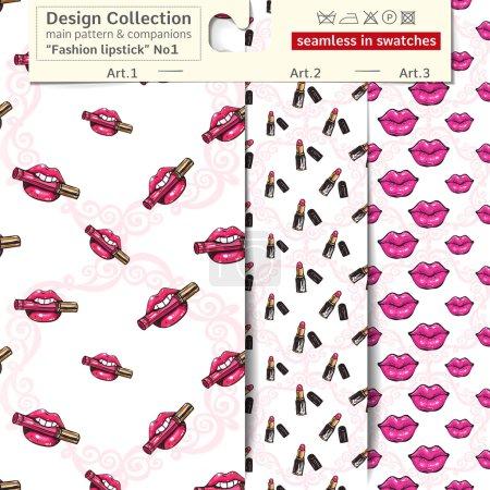 Fashion lipstick color patterns