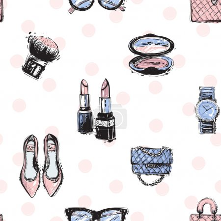 Fashionable feminine accessorises pattern