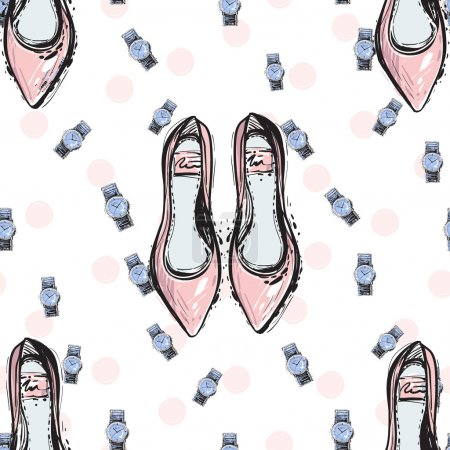 Fashionable feminine accessorises pattern