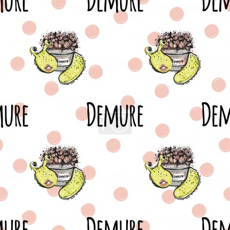 pattern with funny monsters named Demure