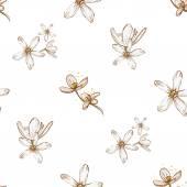Varrat nélküli virágmintás