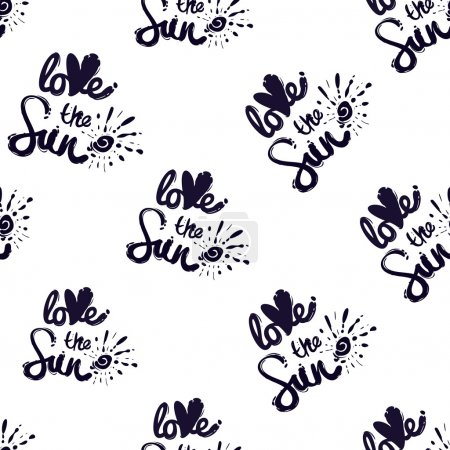 seamless pattern with love the sun logo.