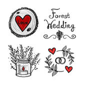 Forest wedding vector theme