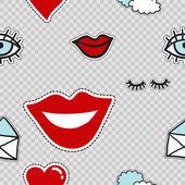 Modern doodle pop art background