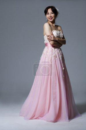 Woman fashion beauty portrait. Evening dress.