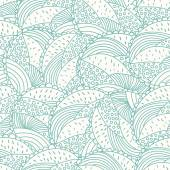 Abstract doodle floral seamless pattern