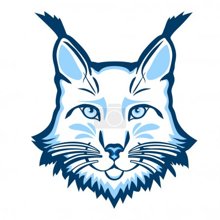 Illustration pour Logo de mascotte de Lynx. Tête de lynx illustration vectorielle isolée . - image libre de droit