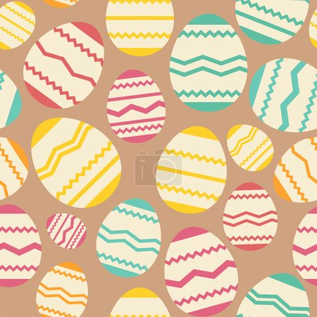Seamless easter egg spring colorful pattern
