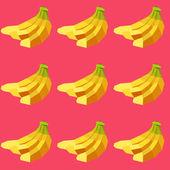 Seamless vintage polygon pop-art banana pattern