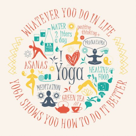 Yoga background with yogic quote