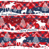 Merry Christmas and Happy New Year background Seamless pattern