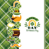 Saint Patricks Day baskground Vector illustration