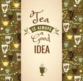 Tea background with quote Poster with typography