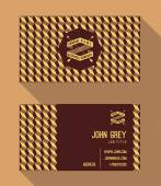 Business card template vintage retro background with geometric