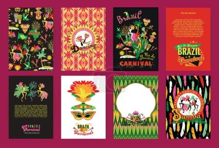 Poster: Big set of Brazil Carnival