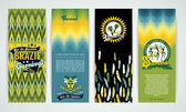Vertical banners set with Brazil Carnival Backgrounds Elements for design