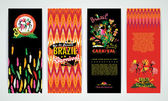Vertical banners set with Brazil Carnival Backgrounds