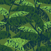 Tropical leaves dense jungle