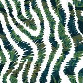 Animal pattern with tropical leaves