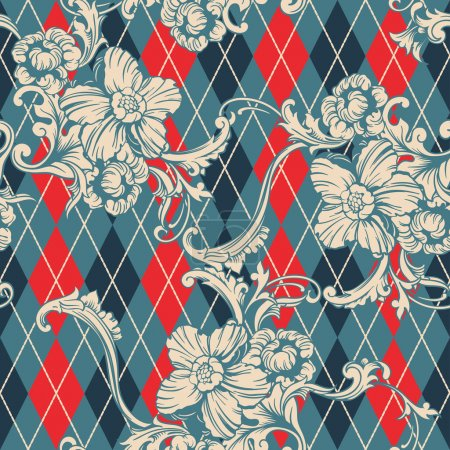 Eclectic fabric seamless pattern.