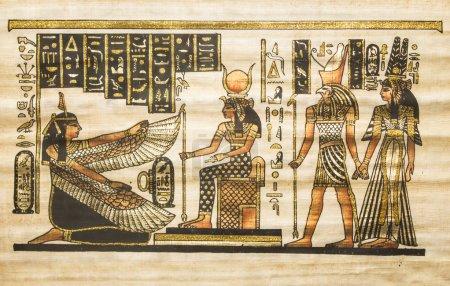 Photo pour Ancienne image de papyrus égyptien des dieux - image libre de droit