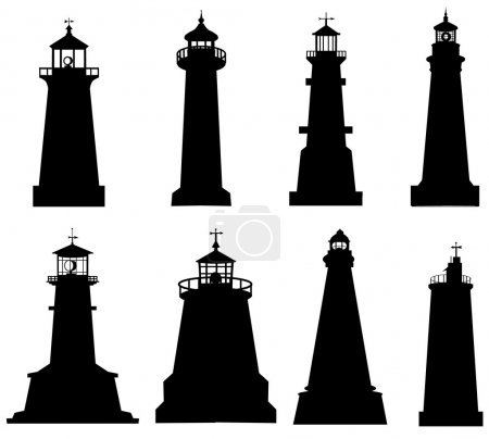 Lighthouse Silhouette set