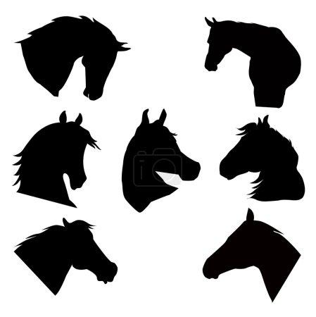 Illustration pour Cheval est une illustration vectorielle . - image libre de droit