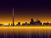 Toronto Night Skyline-Vector