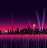 Toronto at Night-Vector