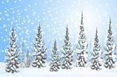 Winter Landscape is a  vector illustration