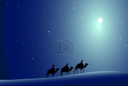 Three wise men and Star-Vector
